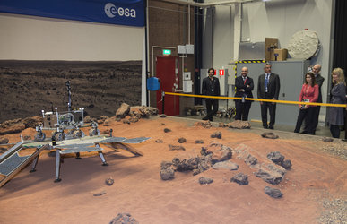 Mars Yard shown to Luxembourg visitors
