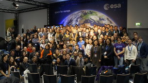 Scenes from the #Sentinel2Go SocialSpace event at ESOC, ESA's mission control centre in Darmstadt, Germany