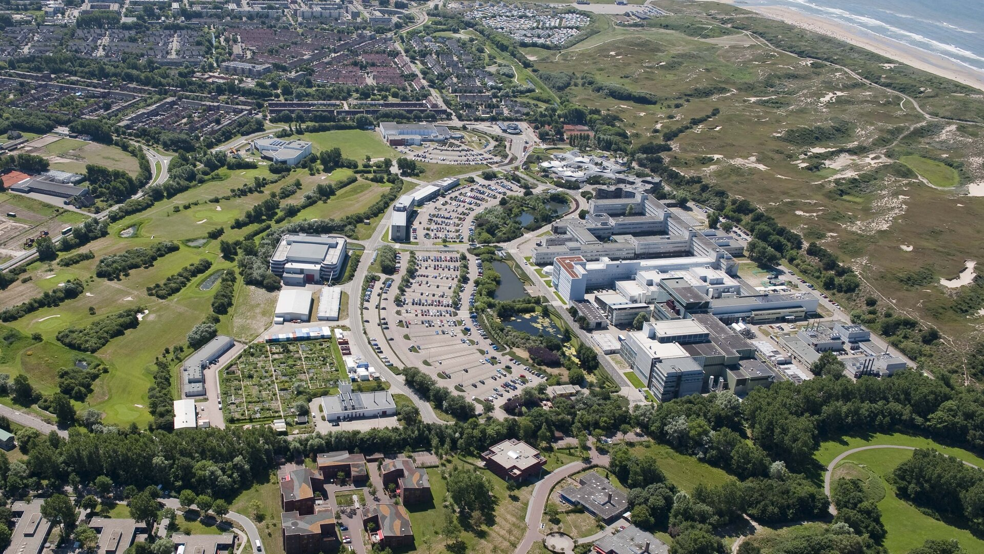 Aerial view of ESA's technical centre