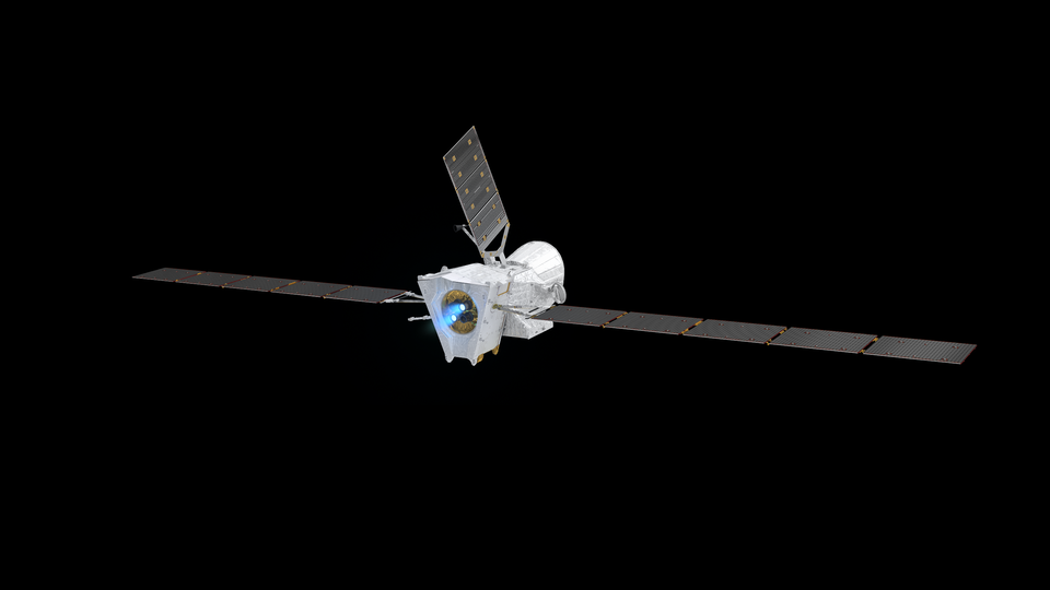 Thrusters firing on BepiColombo