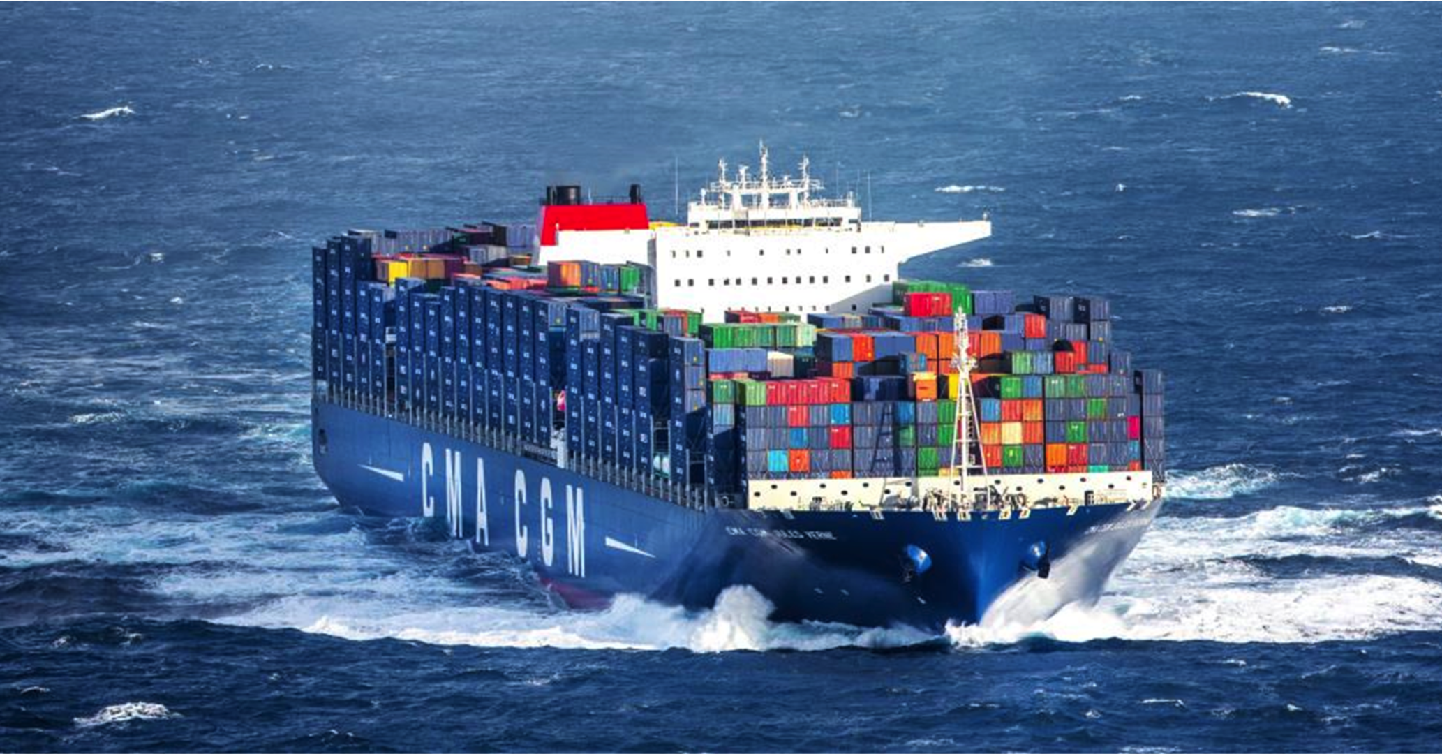 Container ship on passage