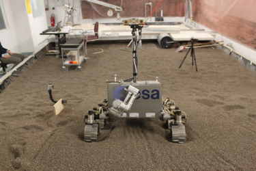 ExoTeR rover in DLR during Wheel Walking Test Campaign in March 2015