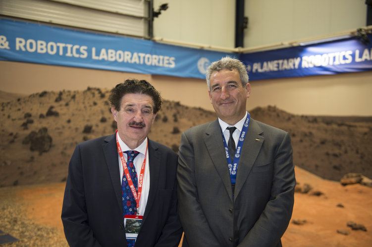 Irish Minister and Head of ESTEC