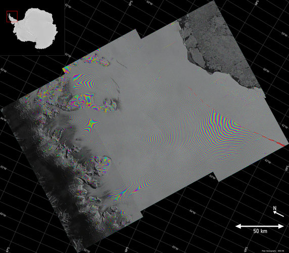 Larsen-C crack interferogram