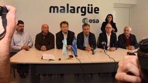 Media briefing during the announcement of an 18-month, €4-million upgrade to ESA's Malargüe ground station in Argentina.