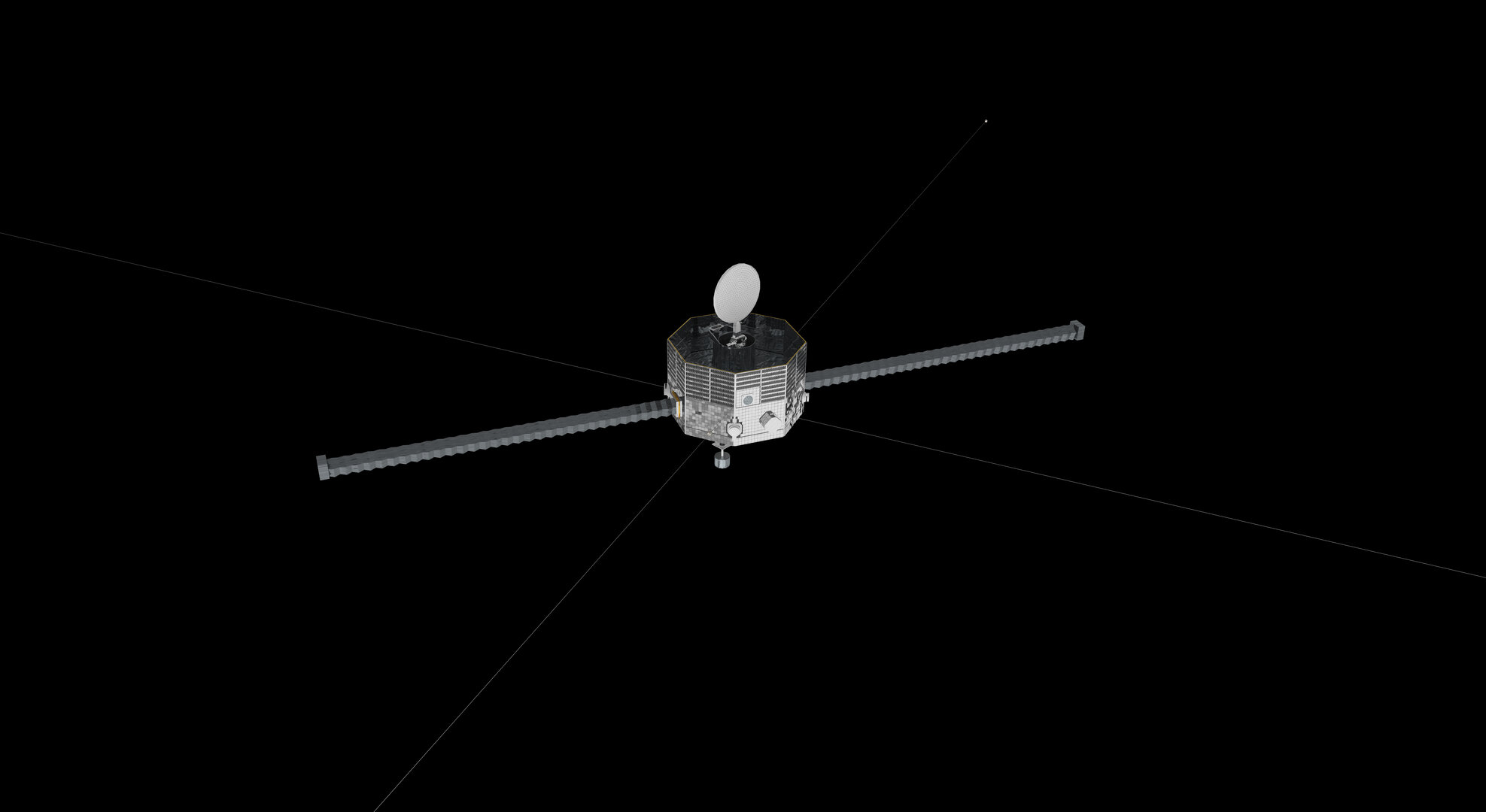 Mercury Magnetospheric Orbiter, top view