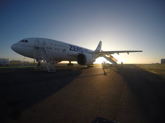 Novespace's A310 early in the morning before the flight