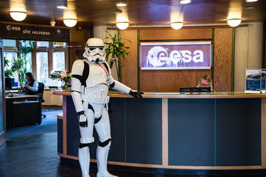Stormtrooper at ESTEC reception