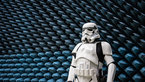 [5/8] Stormtrooper beside anechoic foam