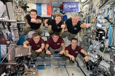 The record-breaking Expedition 50 crew