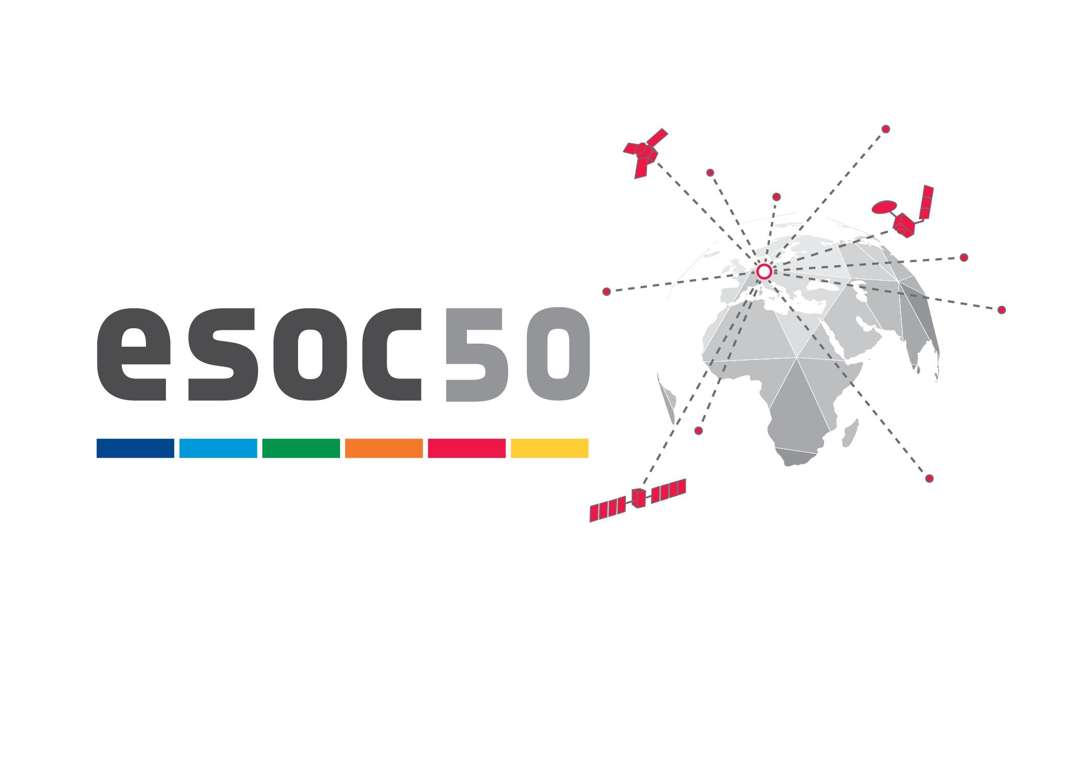 Space in Images - 2017 - 05 - ESOC50 logo horizontal