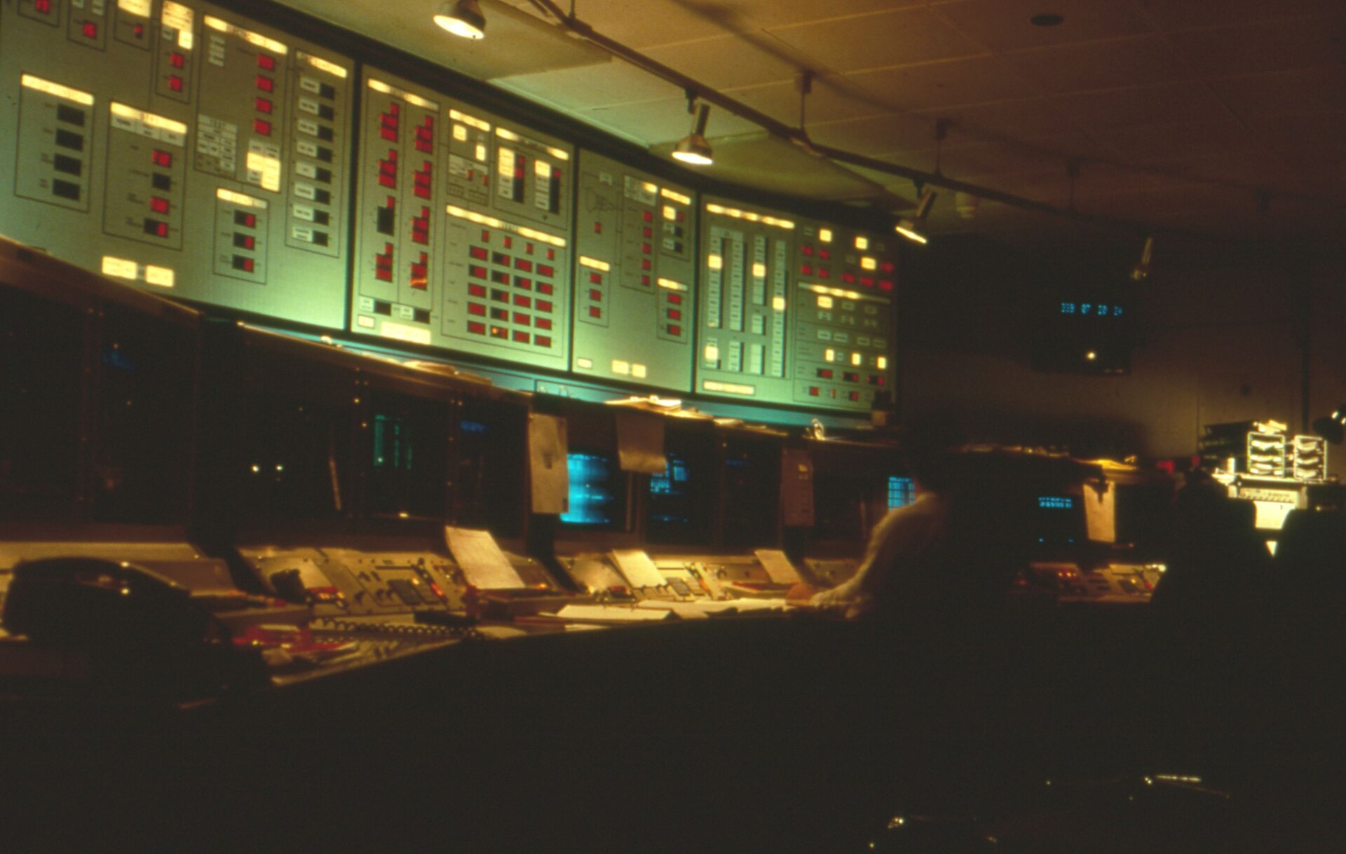 Exosat control room in 1983