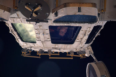 Looking out of Cupola
