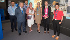 [28/63] Claudie Haigneré with the Andalusian delegation at the ESA Pavilion