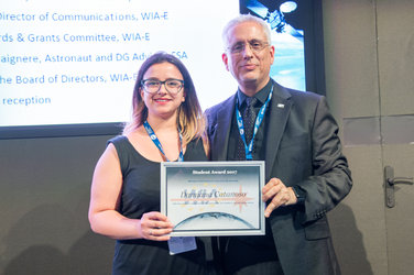 Damiana Catanoso during the WIA-E Awards Ceremony at ESA Pavilion