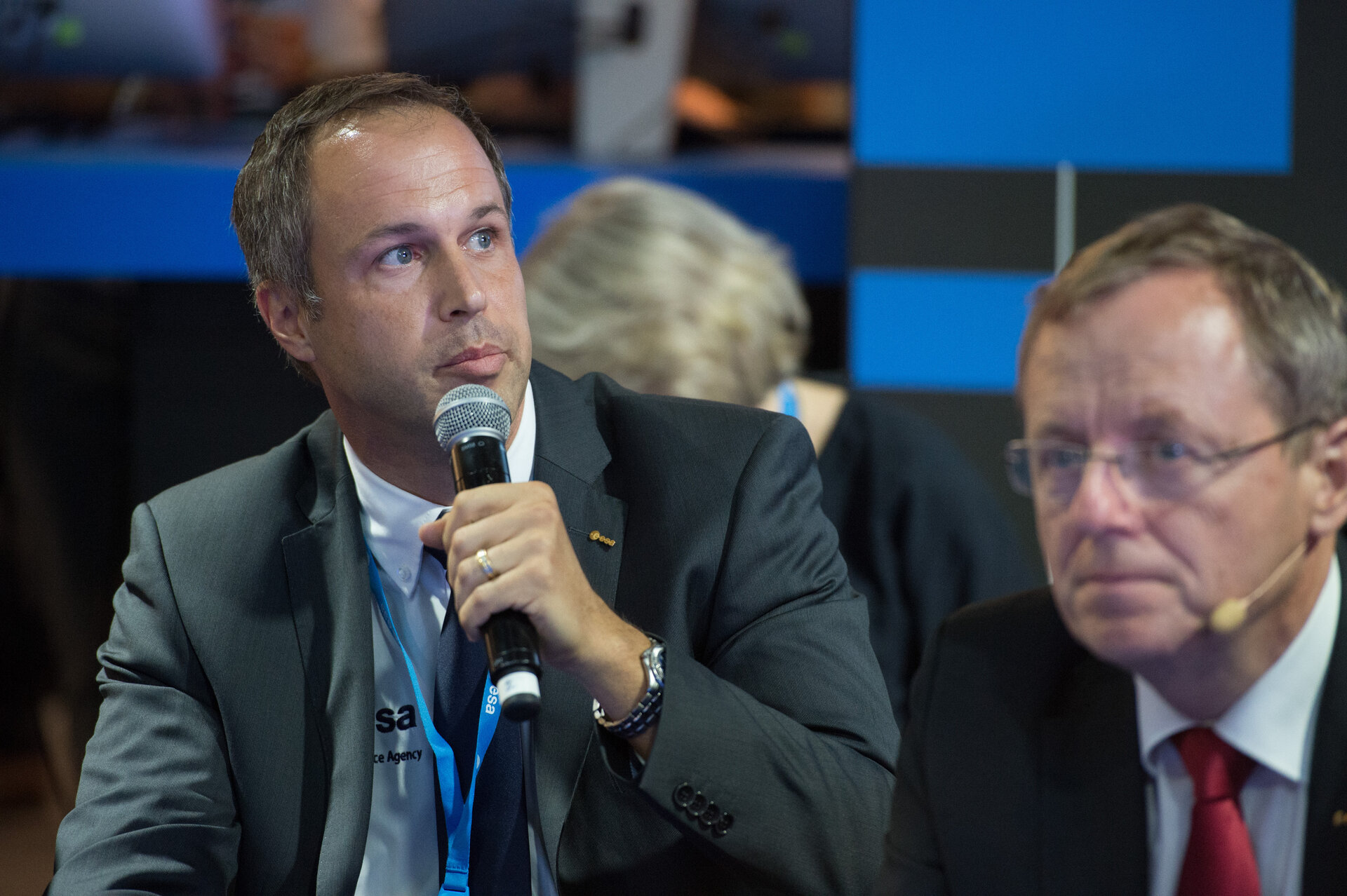 Daniel Neuenschwander during an interaction with media on 'Space 4.0'