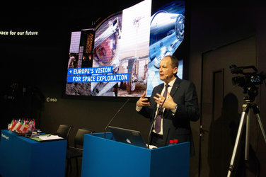 David Parker present Europe's new vision for space exploration
