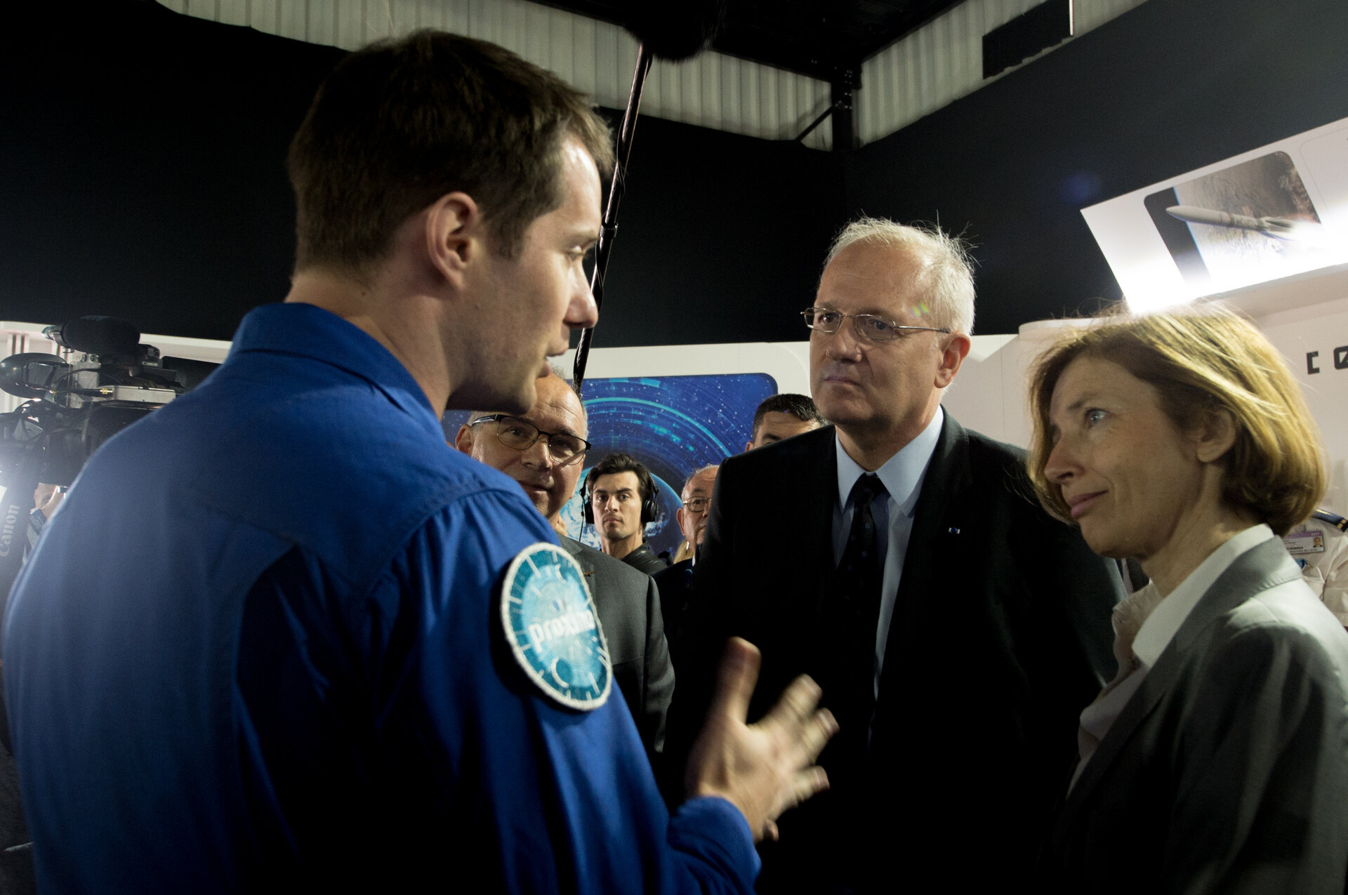Florence Parly meets ESA astronaut Thomas Pesquet