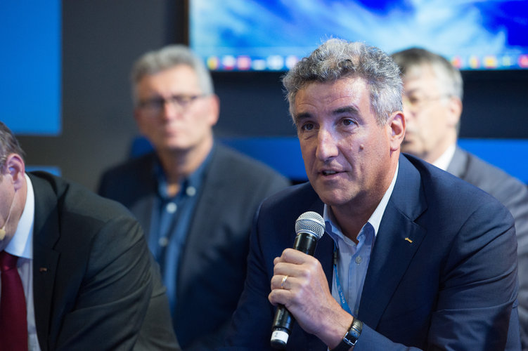 Franco Ongaro during an interaction with media on 'Space 4.0'