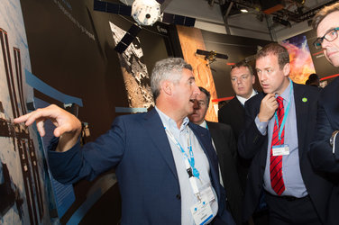 Invest NI delegation visits the ESA Pavilion
