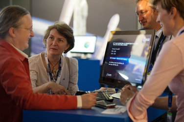 Isabelle Duvaux-Béchon at the ESA Pavilion