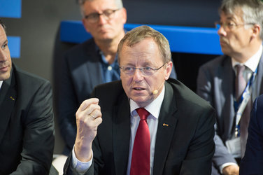 Jan Wörner during the 'Space 4.0ur future: ESA in motion' press conference