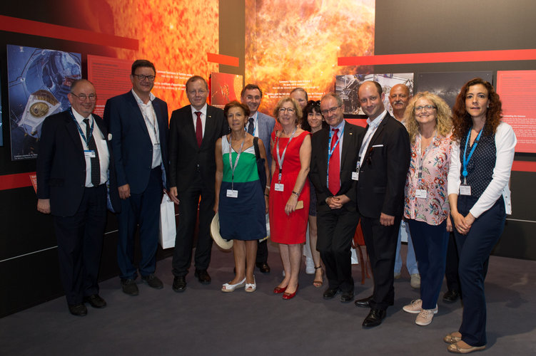 French Parliamentary Group on Space Representative at the ESA Pavilion