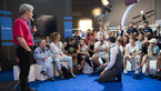 [53/72] Life on the ISS explained to visitors at the ESA Pavilion