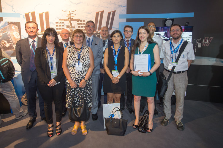 Promotheus team at the ESA Pavilion
