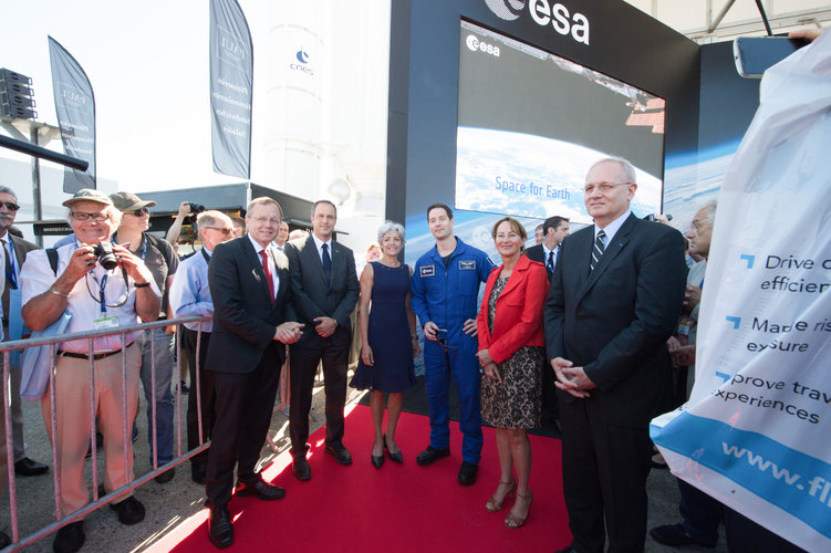Segolene Royal at the ESA Pavilion