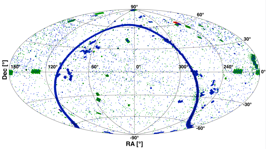 Herschel PACS point source catalogue, all-sky map