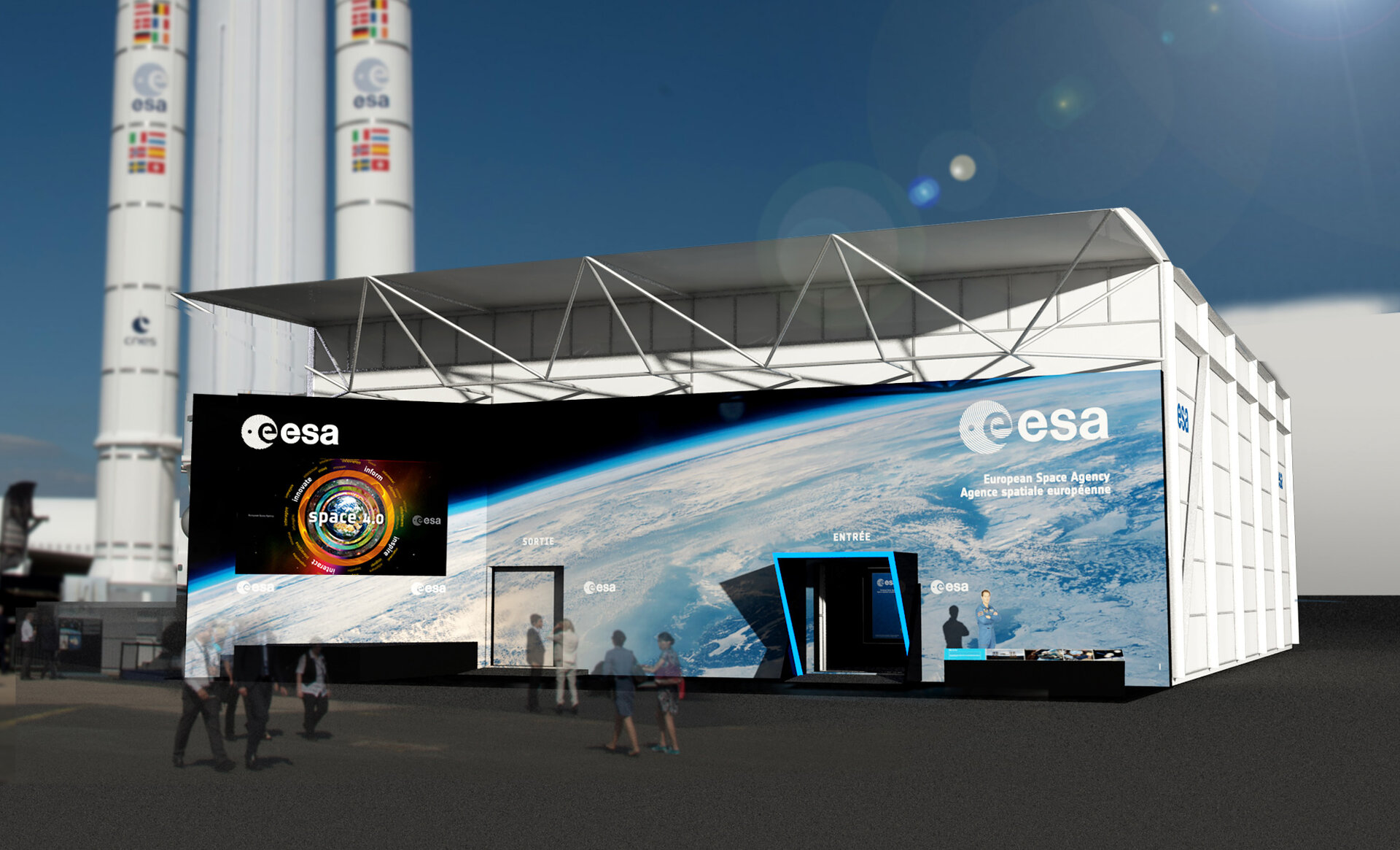 The ESA pavilion, Paris Air and Space show 2017