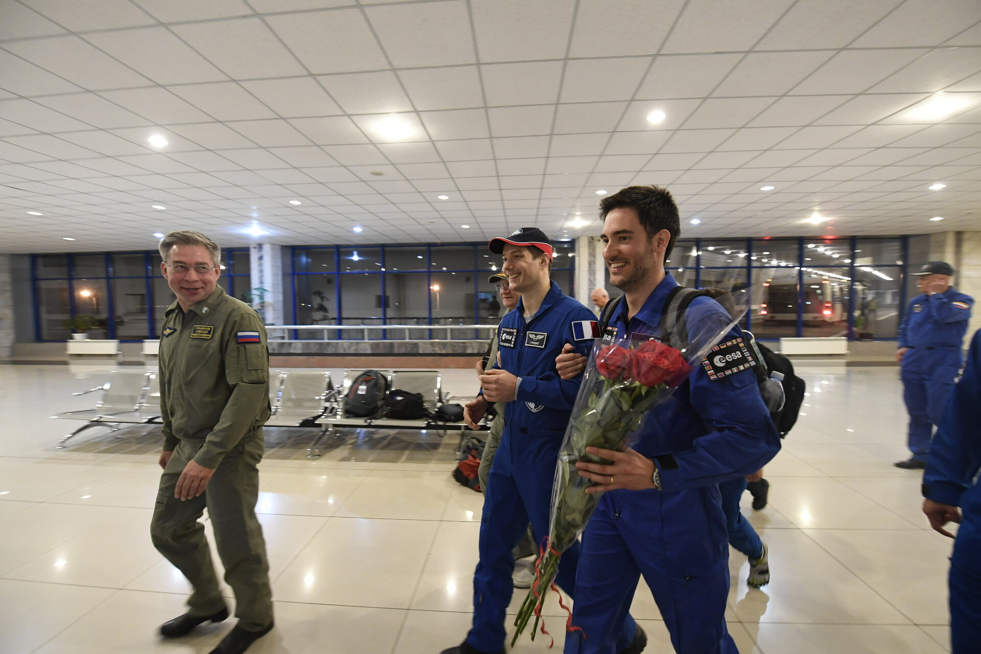 Thomas arrived in Karaganda airport