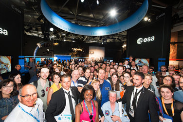 Thomas Pesquet at the ESA Pavilion