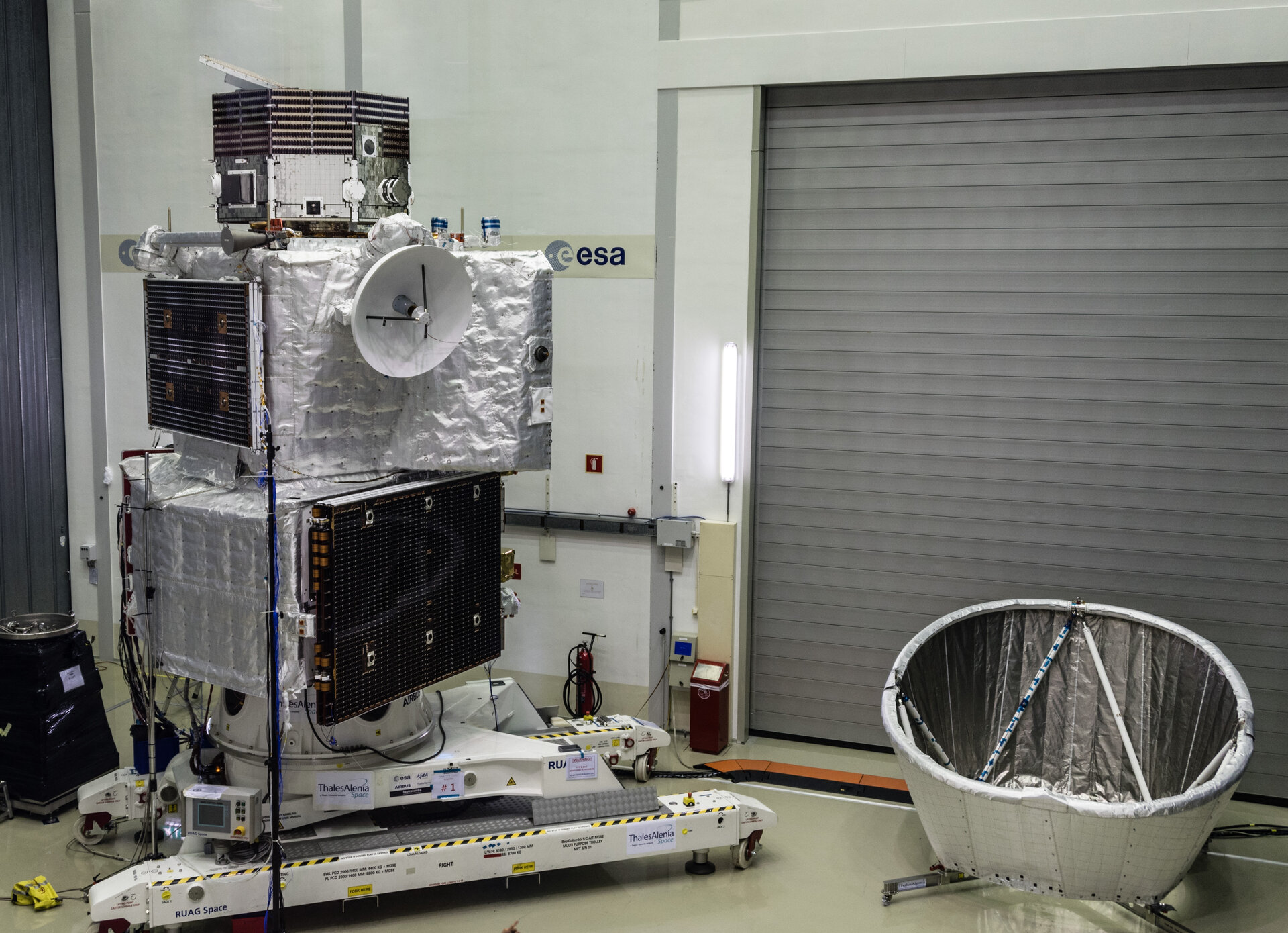 BepiColombo spacecraft stack