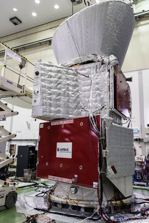 BepiColombo stack – with sunshield