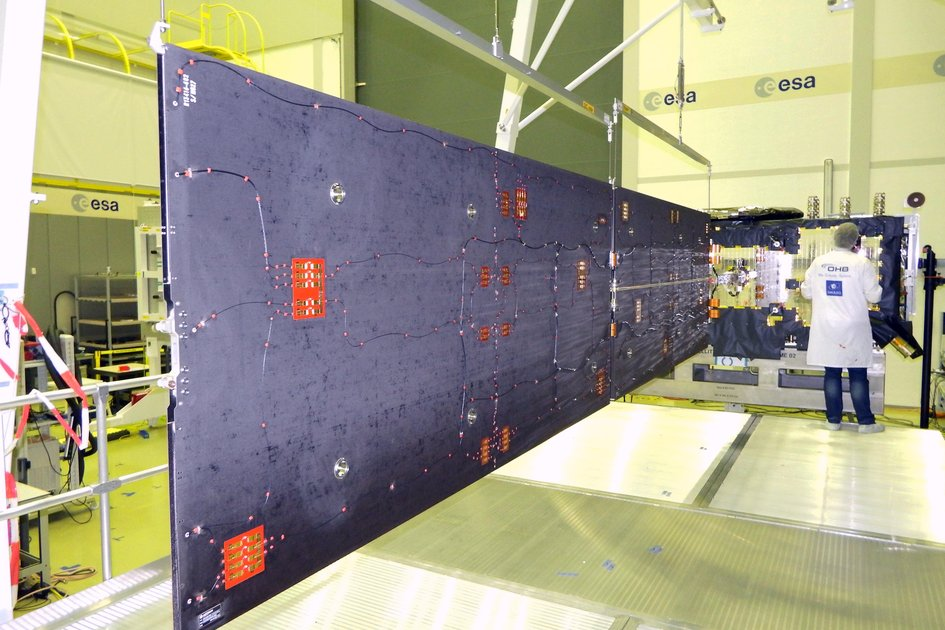 Dark side of Galileo's solar wing