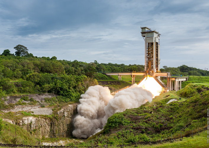 First hot firing of P120C motor for Vega-C and Ariane 6