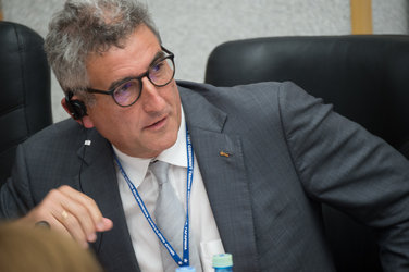 Franco Ongaro during the State Commission meeting