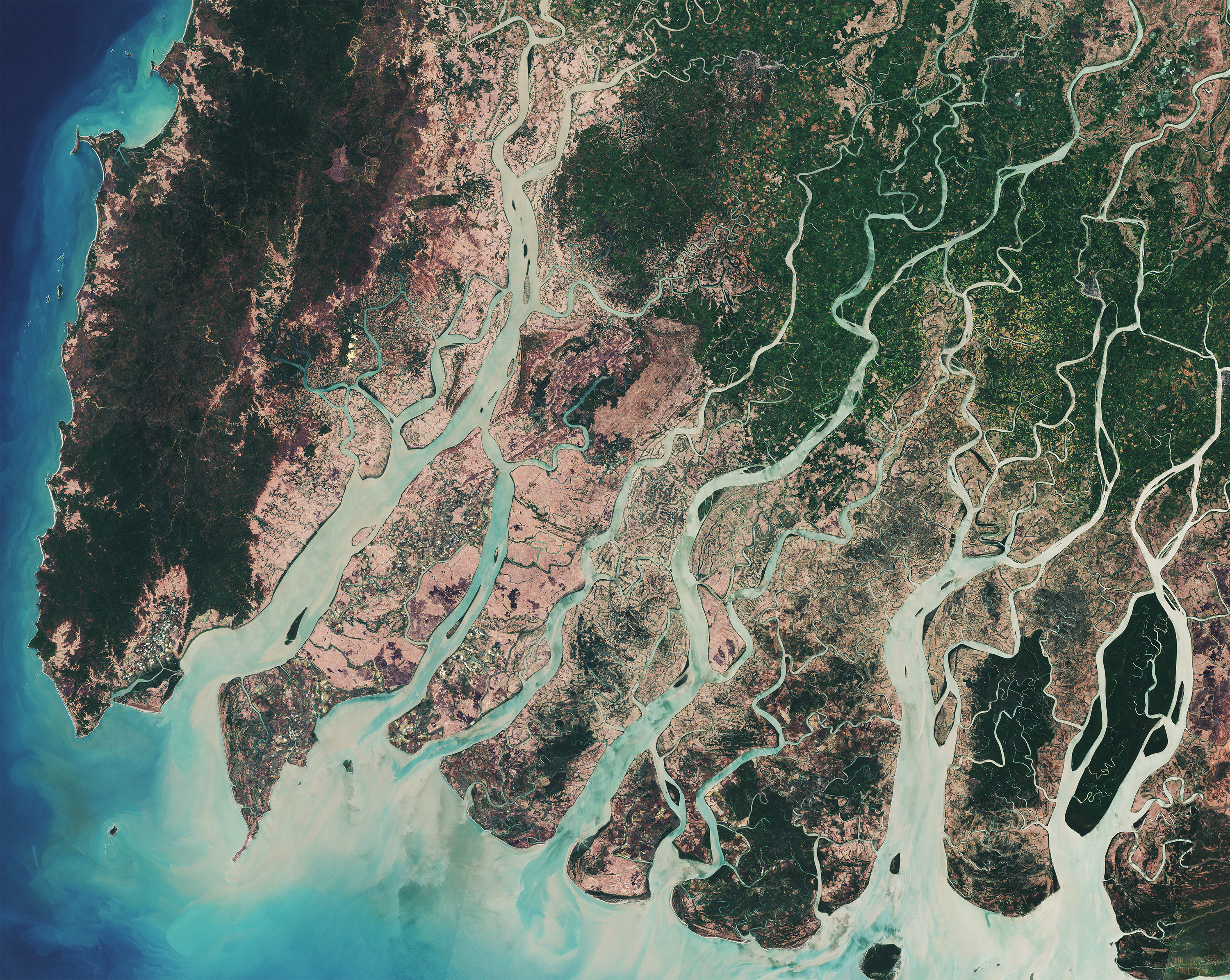 Space in Images - 2017 - 07 - Irrawaddy Delta, Myanmar