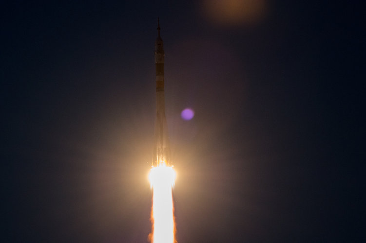 Liftoff of Soyuz MS-05