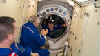 [2/9] Paolo Nespoli enters the ISS