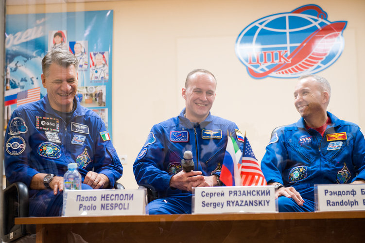 Prime crew during the pre-launch press conference