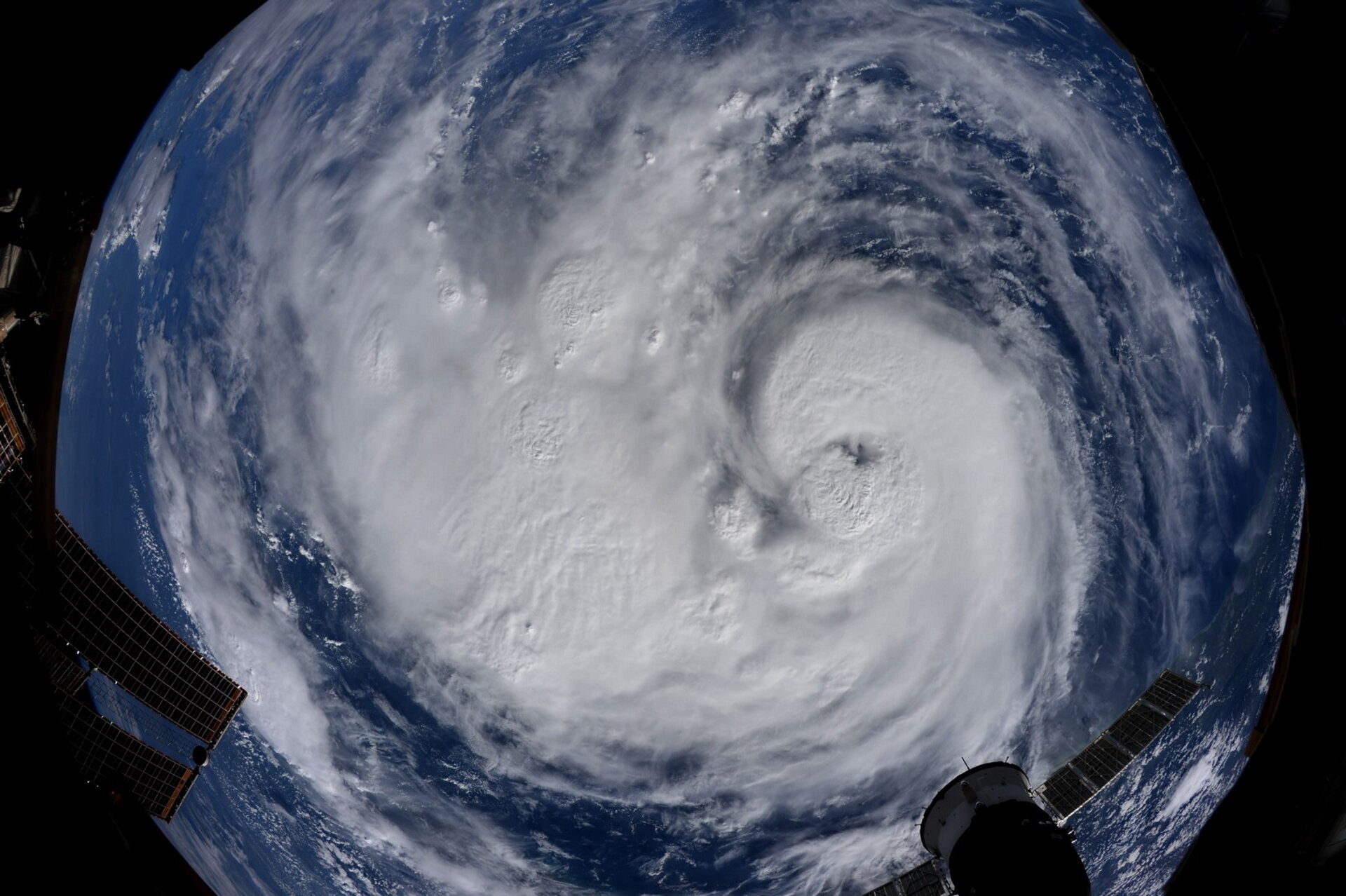 Hurricane Harvey seen from the ISS