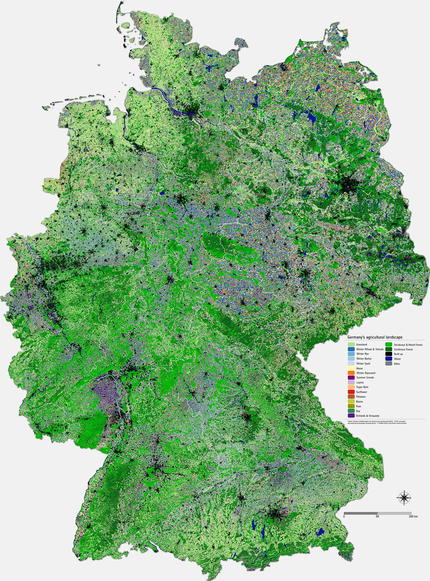Map Of Germany Jpg.Space In Images 2017 08 Mapping Germany S Agricultural Landscape