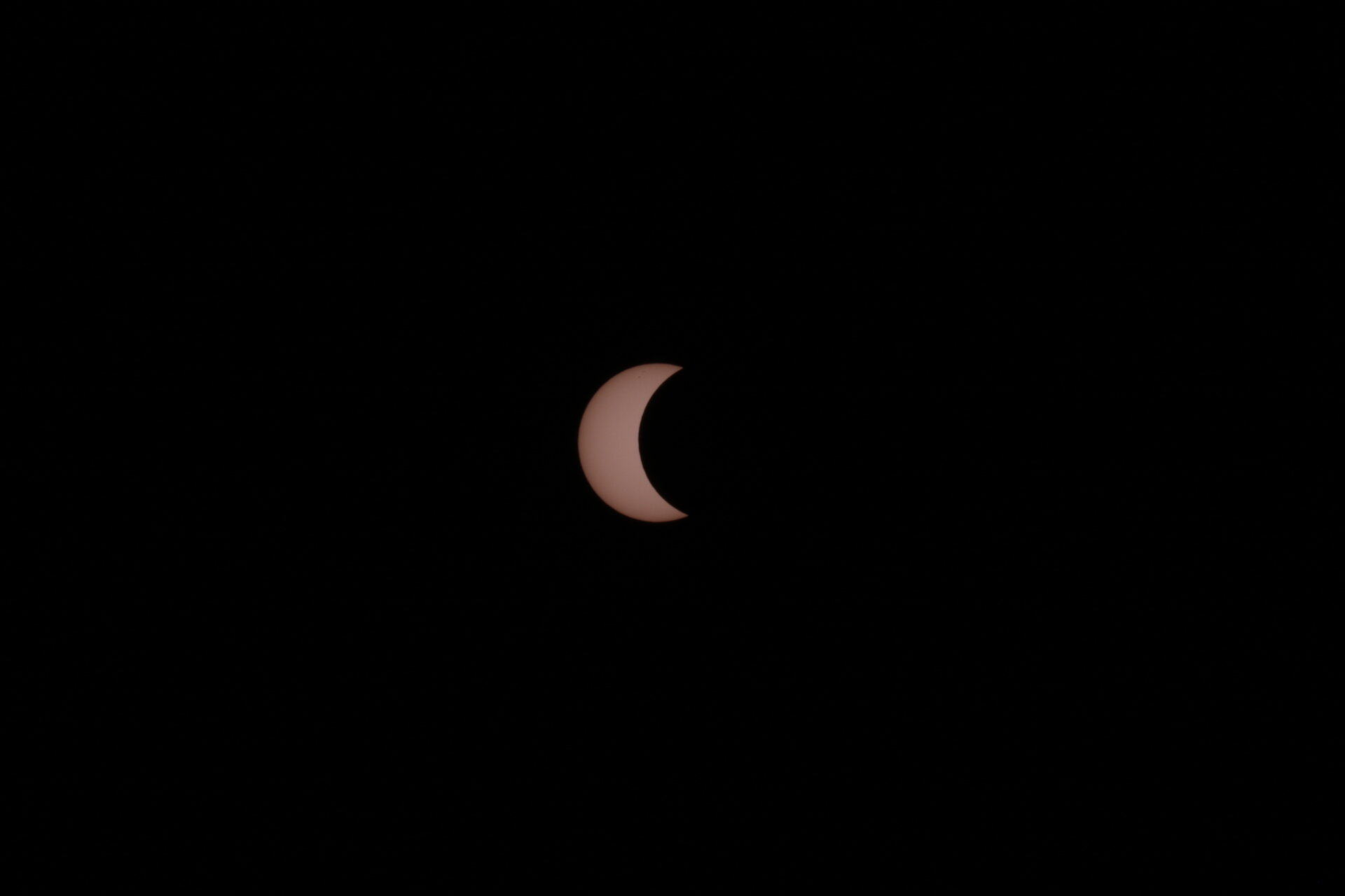 Partial eclipse from Kourou