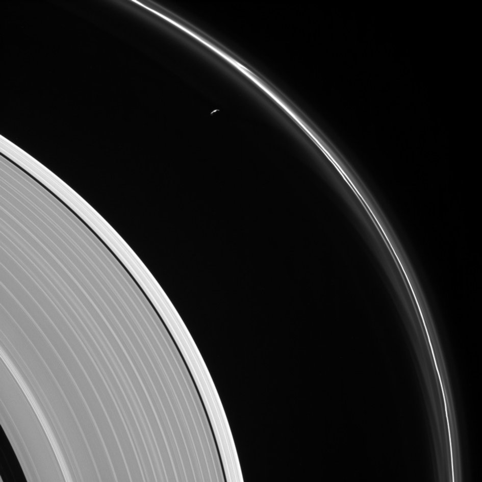 Saturn's rings and Prometheus