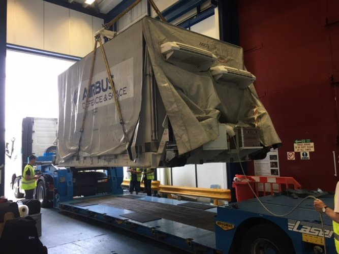 Sentinel-5P leaves Stevenage