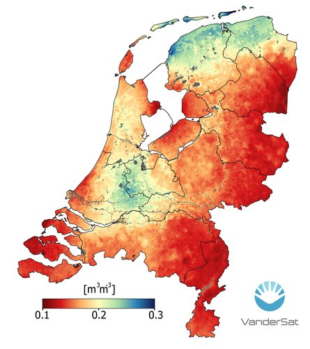Soil moisture in the Netherlands