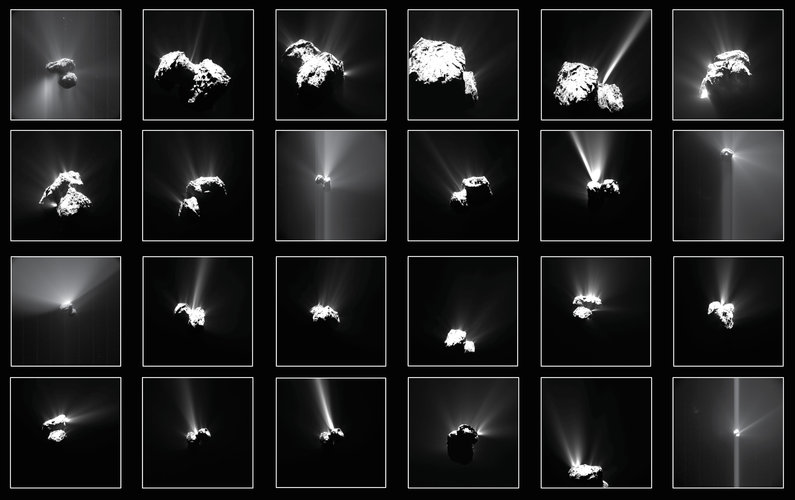 Summer fireworks on Rosetta's comet